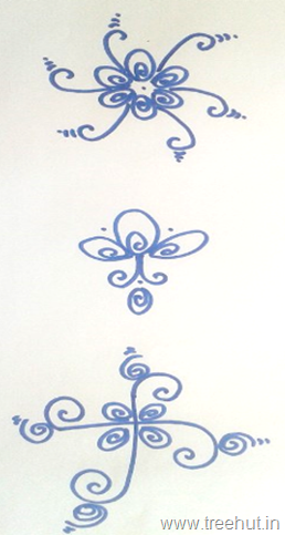 indian-rangoli-designs swastika pattern