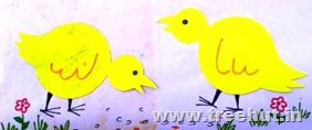 easter chick paper stencil craft idea