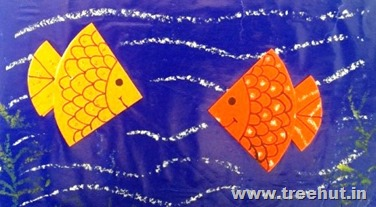 origami fish craft to relax left brain activity