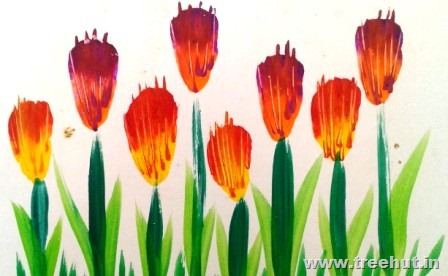 Easy Painted Flowers Art Ideas For Kids