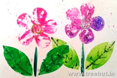paper-cutout-printing-flower Art idea