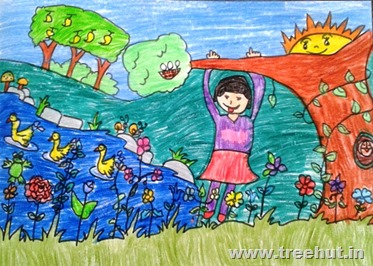 Child art by Ritwika Sinha Study Hall Lucknow India