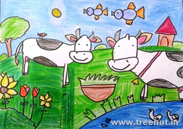 Go vegan Child art by Keshav Agarwal Lucknow India