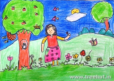 Save girl child art by kashish yadav study hall school lucknow india