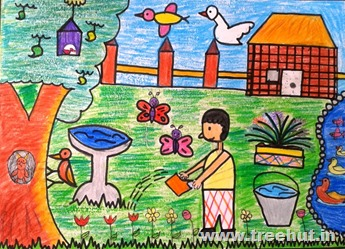 Child art by Anjaneya Garg Lucknow India Study Hall school