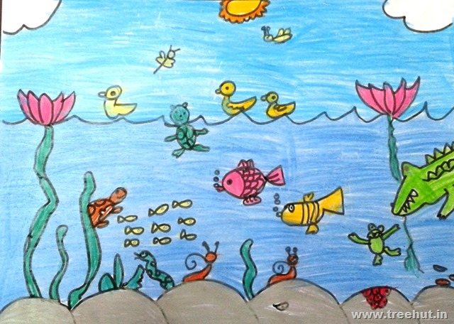 child art by kids of grade 2 and 3