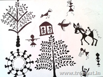 Warli art by Bhanu Srivastava Lucknow India