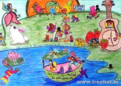 Wondrous art by child Ananya Singh Study Hall Lucknow India