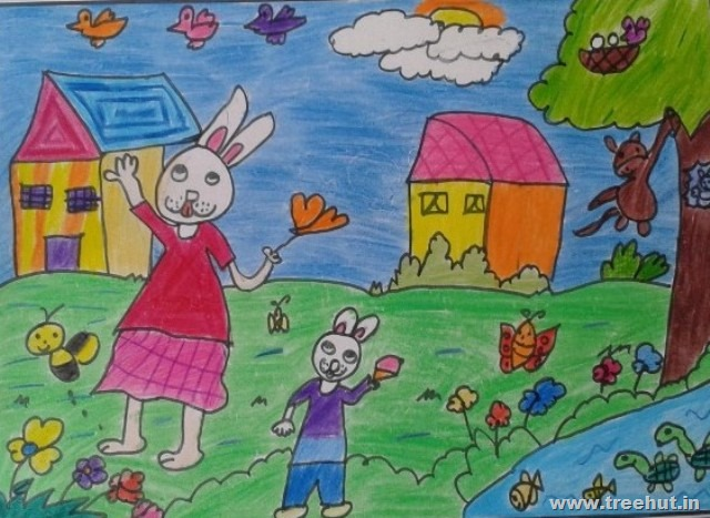 child art by grade 2 and 3 kids
