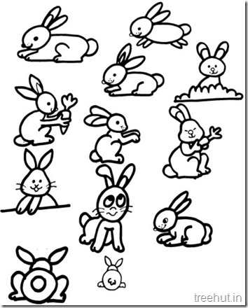 Cute Bunny Rabbit Coloring Pages (1)