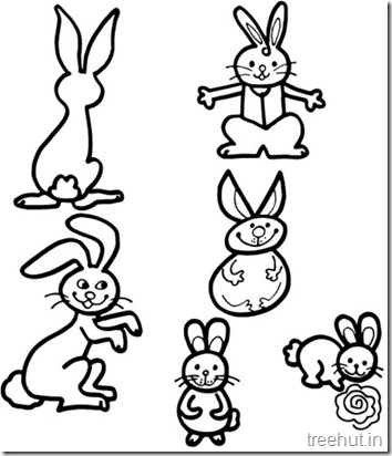 Cute Bunny Rabbit Coloring Pages (2)