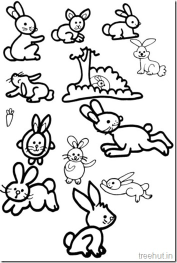 Cute Bunny Rabbit Coloring Pages (4)