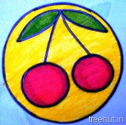 cherry fruit name tag for school children 5