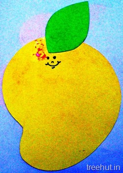ripe mango name tag for school children