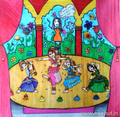 Art by child Ananya Singh Lucknow India