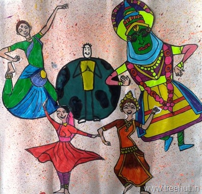 Dances of India art by Engila Shere Lucknow India