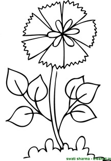 Floral coloring page for art therapy