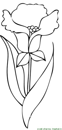 flower coloring page for young artists