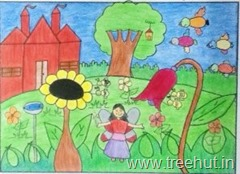 Fairy garden by child artist Bhanu Srivastava Lucknow India