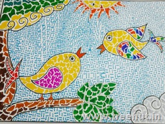 Mosaic art by child Bhavya Singh Lucknow India