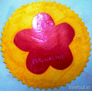 flower nametag for kids