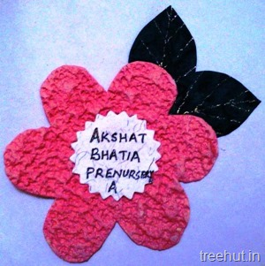 flower nametag for preschool