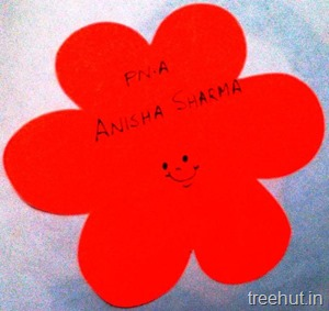 flower nametag stencil