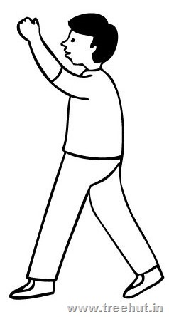 Walking Boy Coloring Page