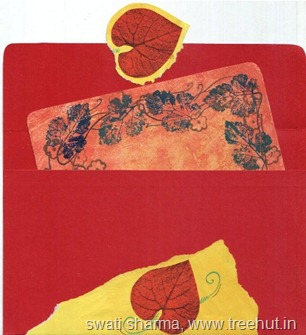 Mail art envelope with insert