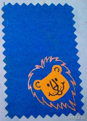 animal lion desk tags for kids