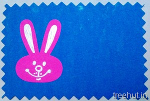 bunny name desk sticker for school kids