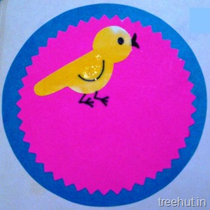 circle bird name tag for preschool