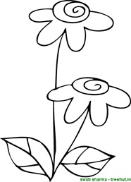 Flower unique coloring page