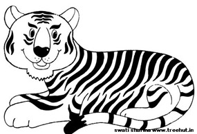 Asian tiger coloring page