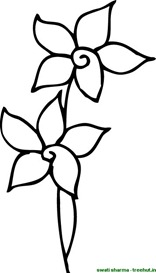 Flower coloring page for art therapists