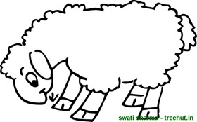 woolly sheep coloring page