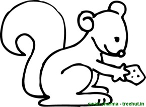 squirrel looking for food coloring page