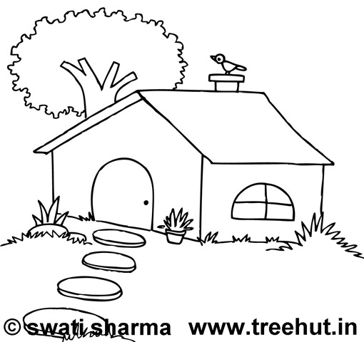 house coloring pages