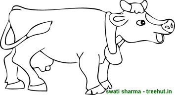 Happy cow coloring page