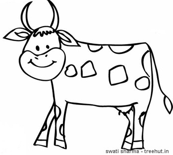 Jersey cow coloring page