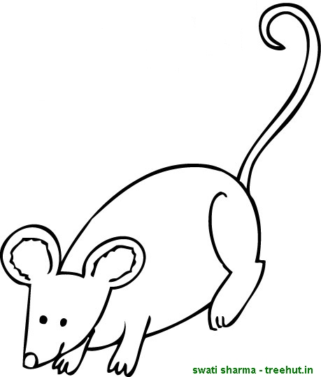 free mouse coloring pages - Coloring Picture Of A Mouse