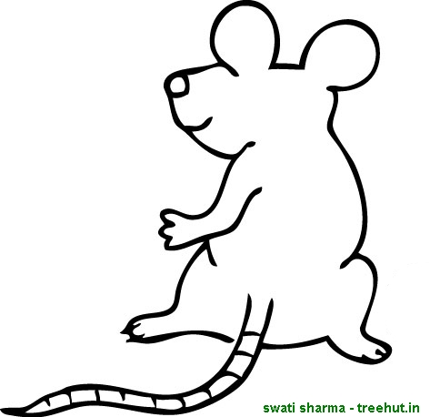 Standing Mouse Coloring Page