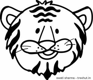 Save Tiger coloring page