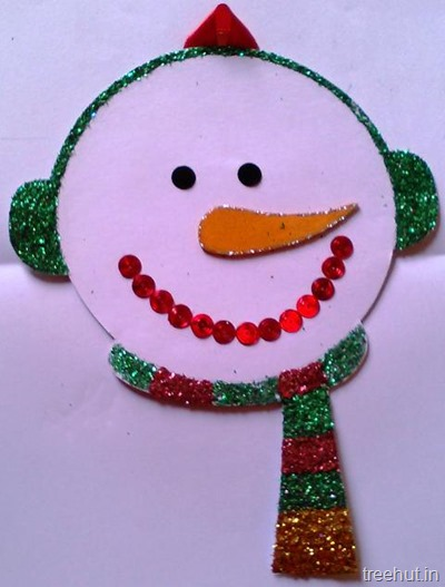 snowman cd hanging christmas kids craft
