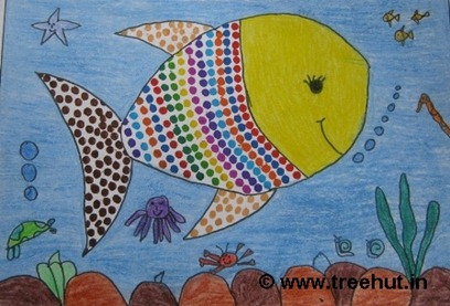 Fish by child artist Ilma Abbasi Study Hall school Lucknow India
