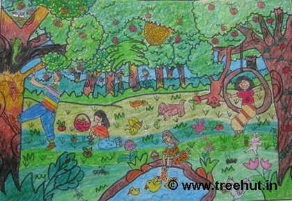 orchard drawing child art by surbhi verma
