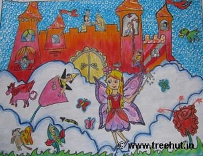 Child art by Ananya Goswami Study Hall school Lucknow India