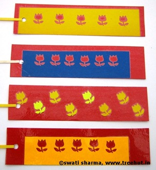 Bookmarks on handmade paper India