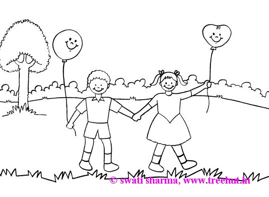 Coloring page friends