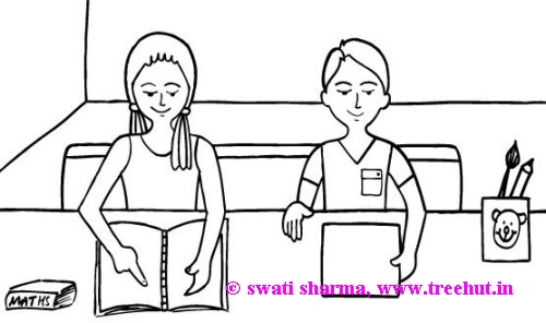 educate girl child coloring page